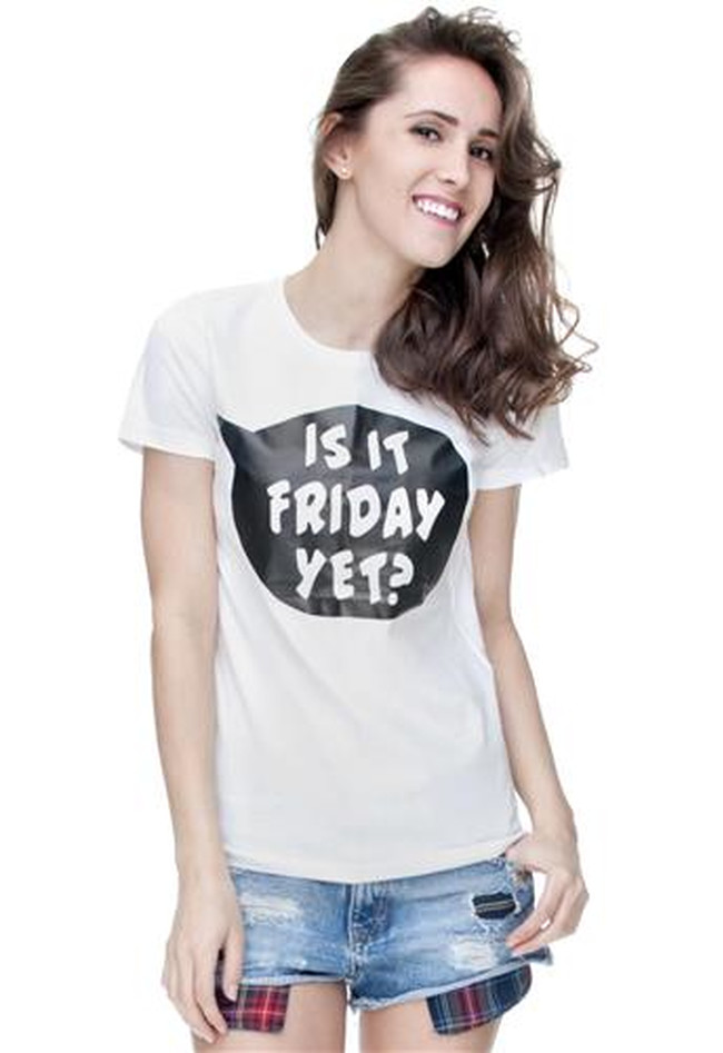 T-Shirt Ladies Round Is it Friday